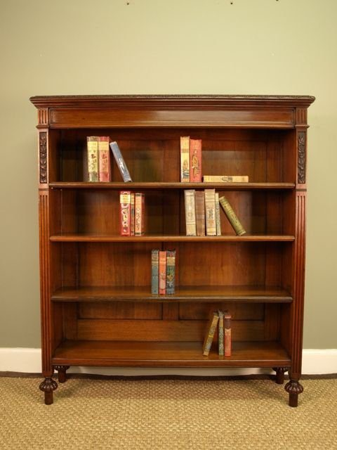 A High Quality Victorian Walnut Bookcase Antiques Atlas