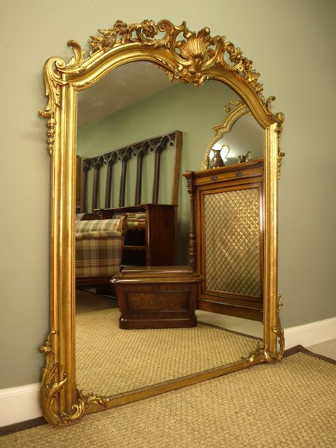 antiques atlas a large ornate victorian giltwood mirror
