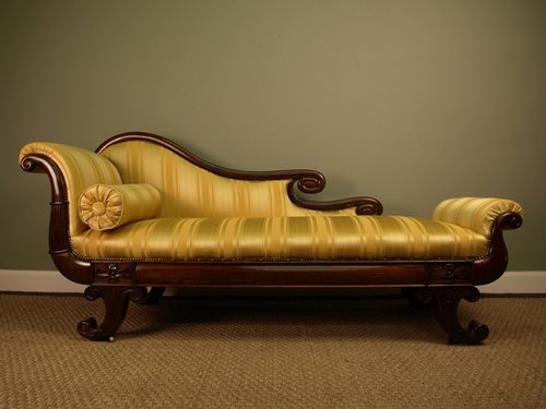 A superb regency rosewood chaise lounge antiques atlas for Antique wooden chaise lounge