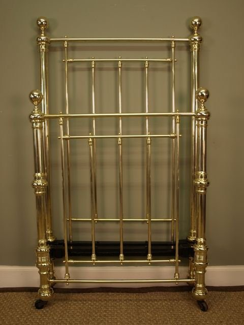 Original Victorian Brass Beds : A victorian single brass bed antiques atlas