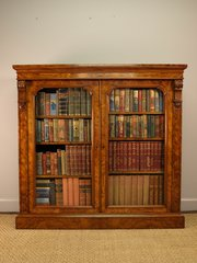 Superb Burr Walnut Glazed Book