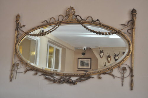 Antiques atlas adam style gilt wood oval mirror for Adam style mirror