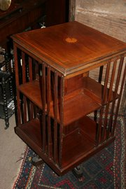 Antique Mahogany Revolving Boo