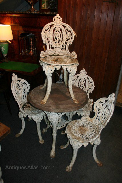 Antiques Atlas Cast Iron Garden Table Amp 4 Chairs