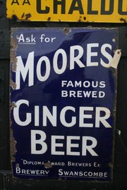 Ginger Beer Enamel Sign