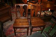 Pair of Antique Oak Side Chair