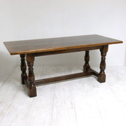 Solid Dark Oak Refectory Table