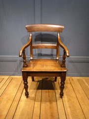 19th Century Oak Carver Chair