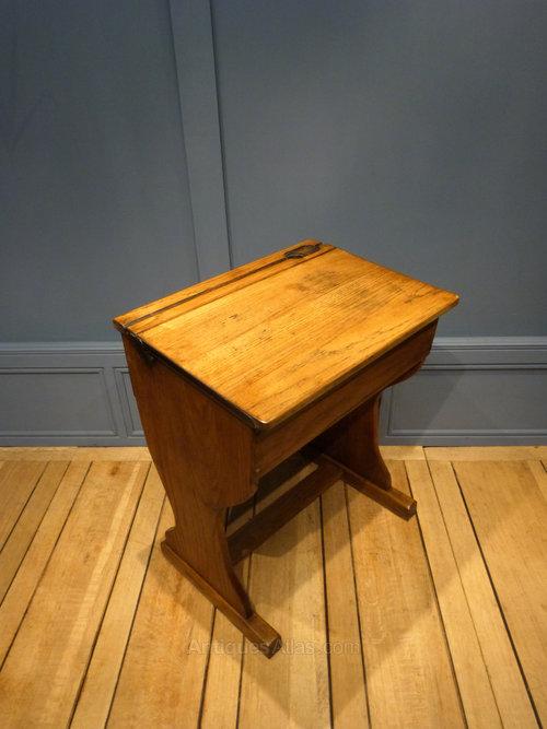 Antiques Atlas Oak School Desk