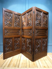 Oak Threefold Screen