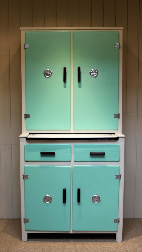 Antique 1930s easiwork kitchen cabinet for Vintage kitchen units uk