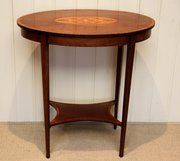 Edwardian Inlaid Mahogany Two