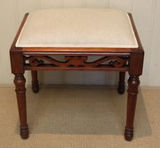Edwardian Walnut Upholstered S