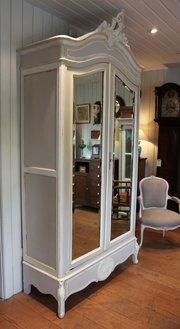 French Painted Mirrored Two Do