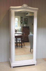 French Painted Single Mirrored