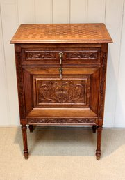 French Solid Oak Carved Side C