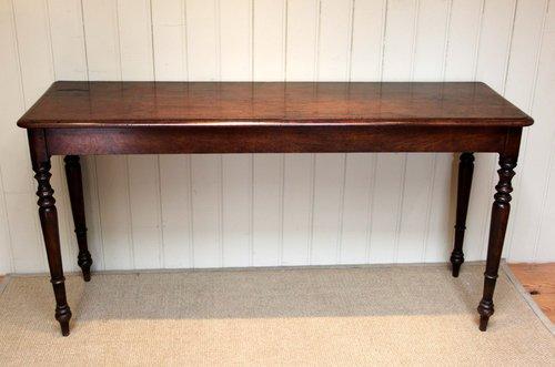Foyer Table Long : Long mahogany side hall table antiques atlas