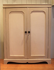 Painted two door side cabinet