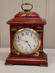 Red Chinoiserie Lacquered Time