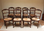 Set Of Eight French Oak Rush S
