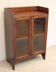Small Oak Two Door Glazed Book
