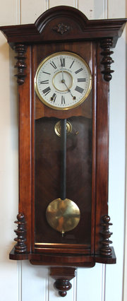 Walnut Regulator Style Wall Cl