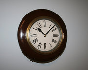 12 Mahogany Railway Time Piece