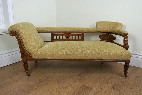 edwardian oak double end chaise longue antiques atlas. Black Bedroom Furniture Sets. Home Design Ideas
