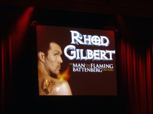 Review of Rhod Gilbert: The Man with the Flaming Battenburg Tattoo, Fringe 2012