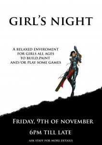 Girl's Night at Games Workshop Edinburgh