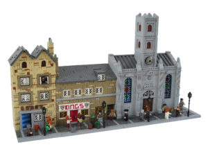 A stretch of the Royal Mile built in LEGO