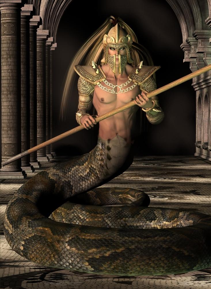 Naga_Warrior_by_curiousping