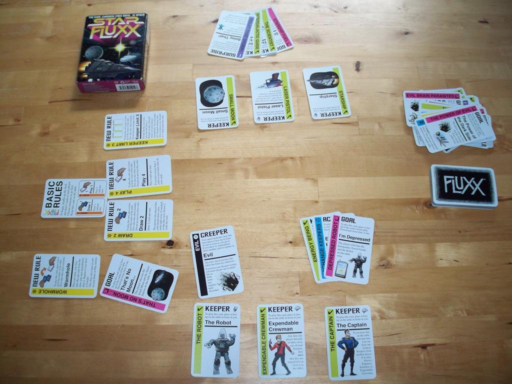 A game of Star Fluxx in progress