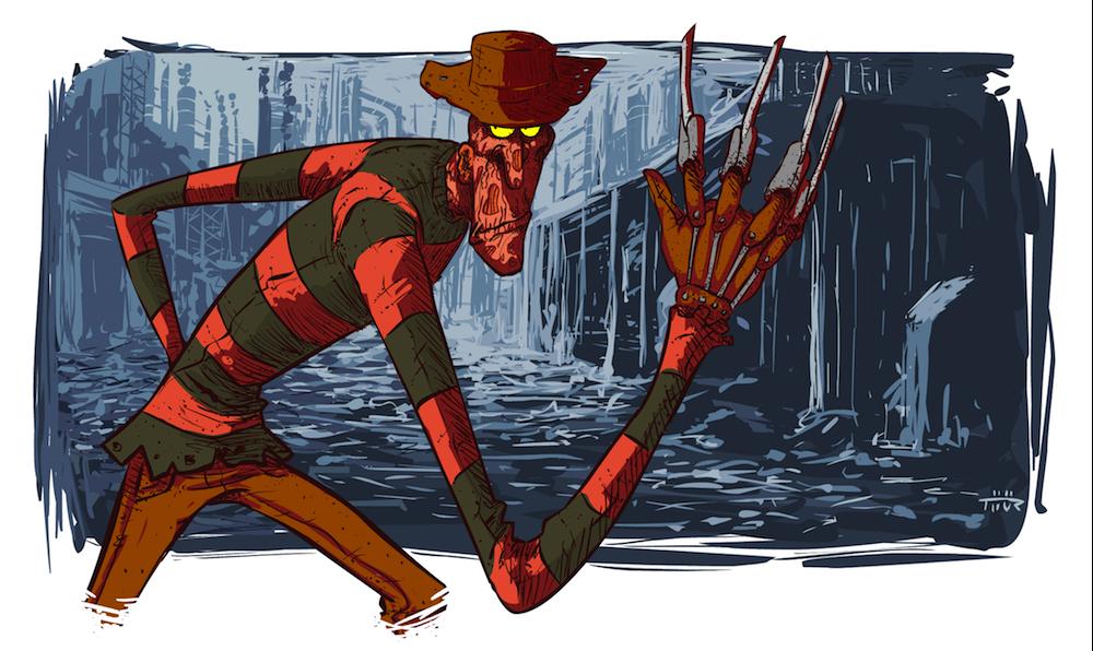 Cartoon Freddy Krueger