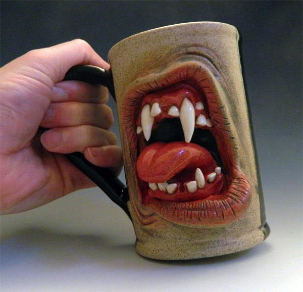 big ass scary zombie mug