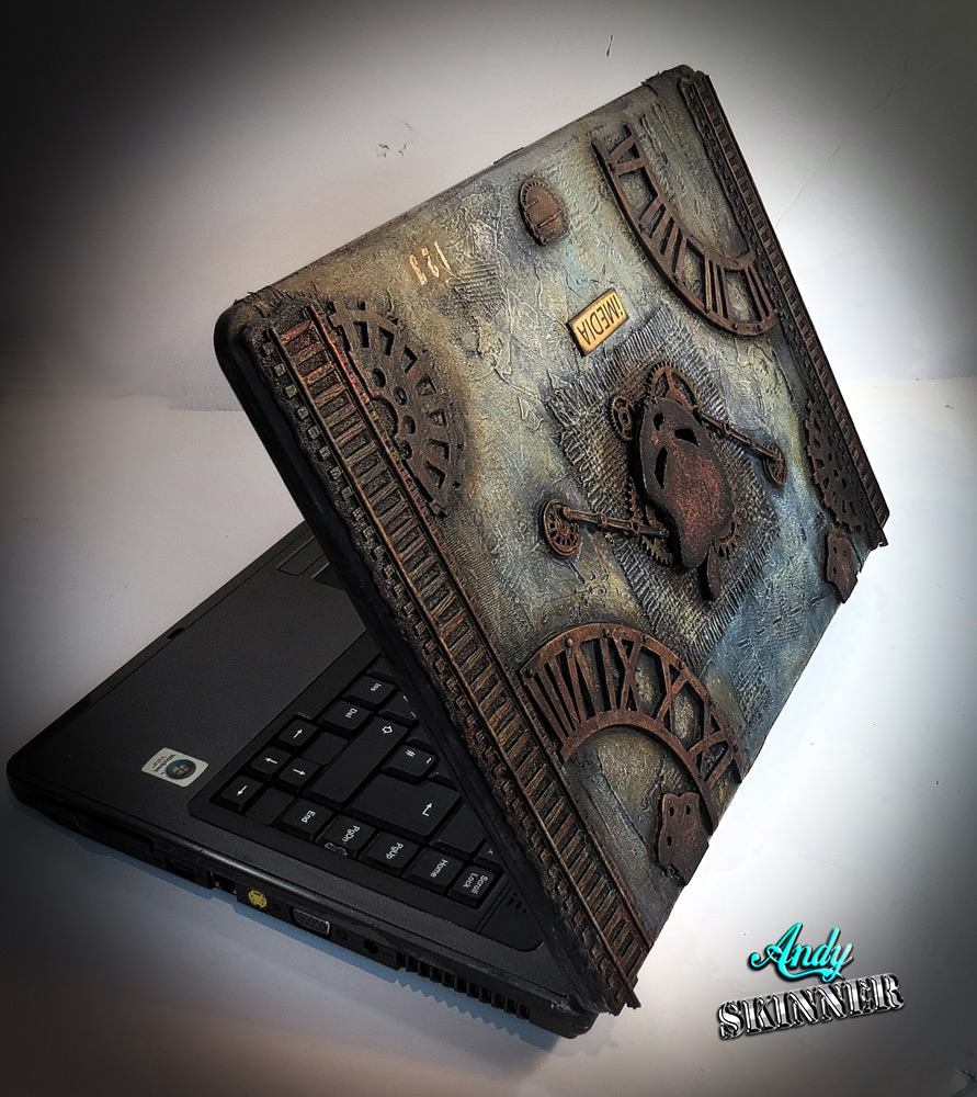 Steampunk Laptop cover 1