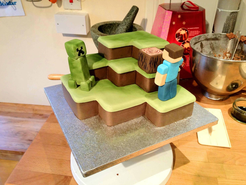 building the minecraft cake. Black Bedroom Furniture Sets. Home Design Ideas