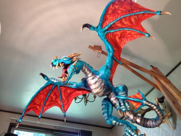 Making the perfect paper mache dragon for Perfect paper mache