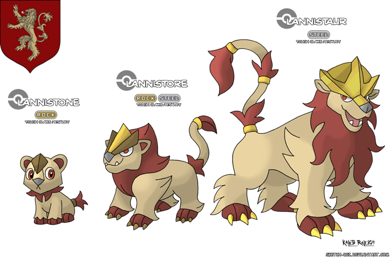lannister - Game of Thrones as Pokemon