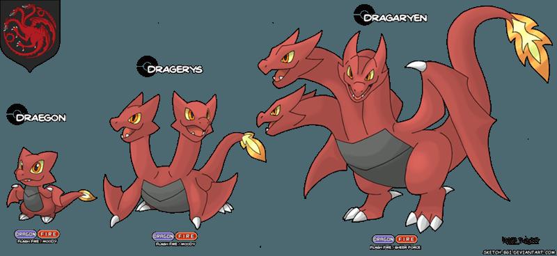 targaryen - Game of Thrones as Pokemon