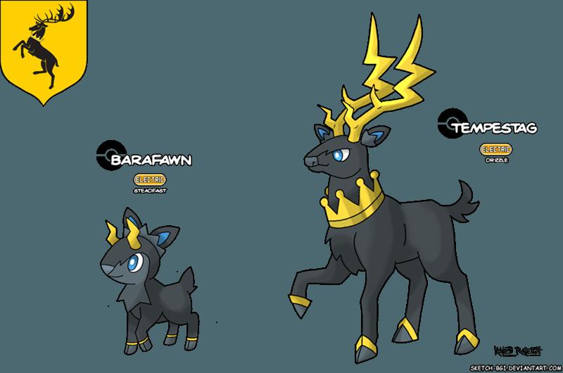 baratheon - Game of Thrones as Pokemon