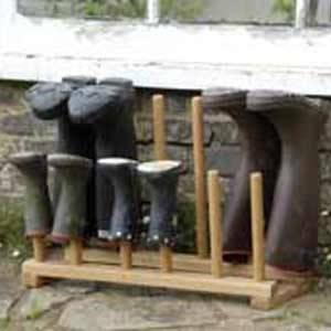 Oak Boot Rack