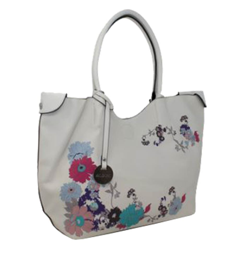 New Floral Print Synthetic Leather Ladies Summer Fashion Tote Bag