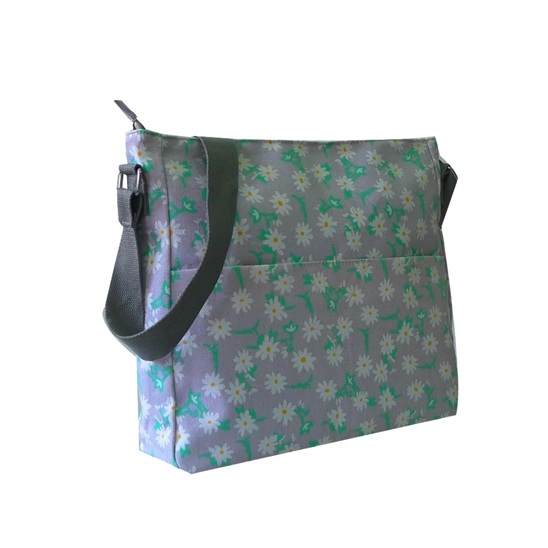 New Star Heart Floral Print Ladies Canvas Festival Crossbody Bag