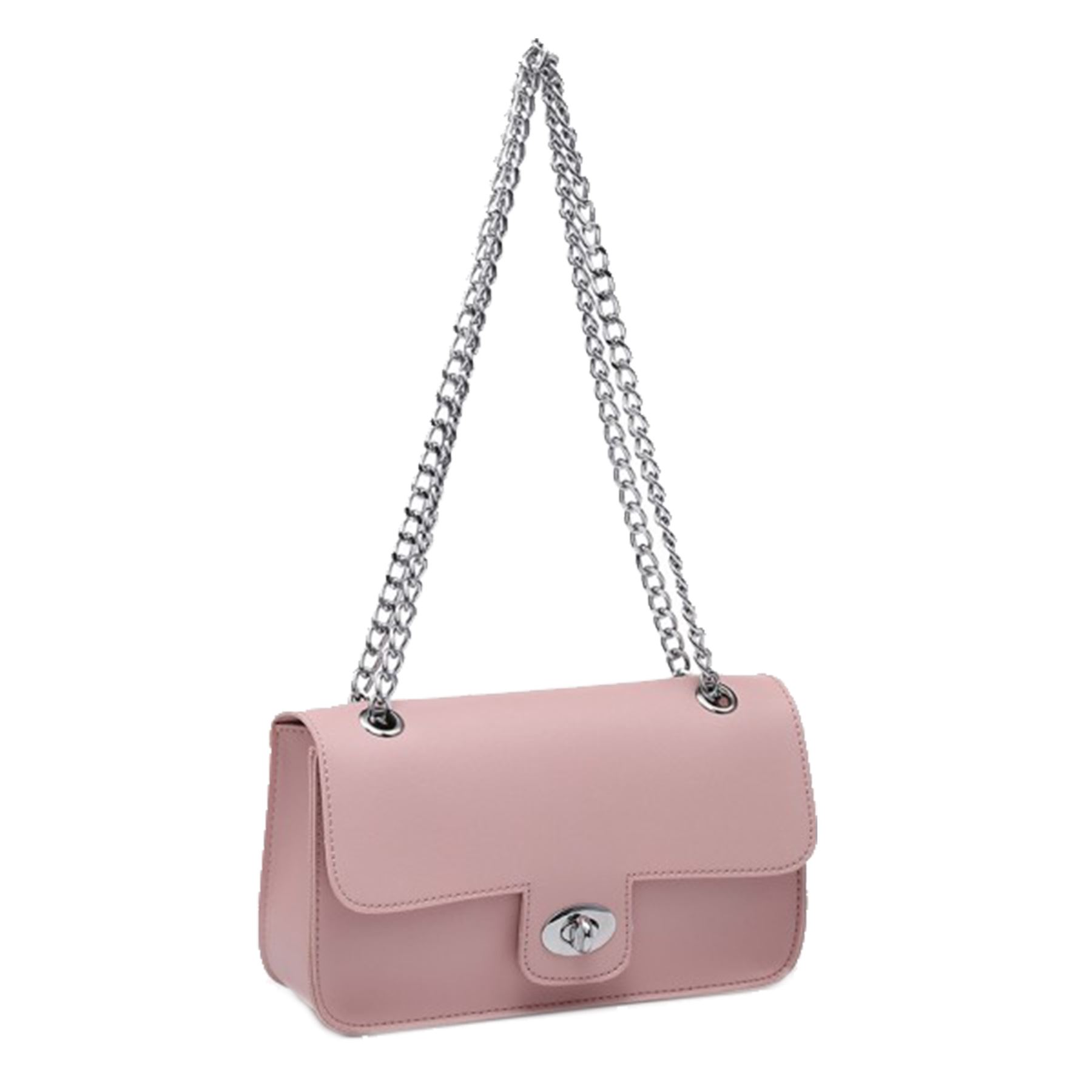 New Women's Synthetic Fashion See-through Chain Strap Mini Shoulder Bag