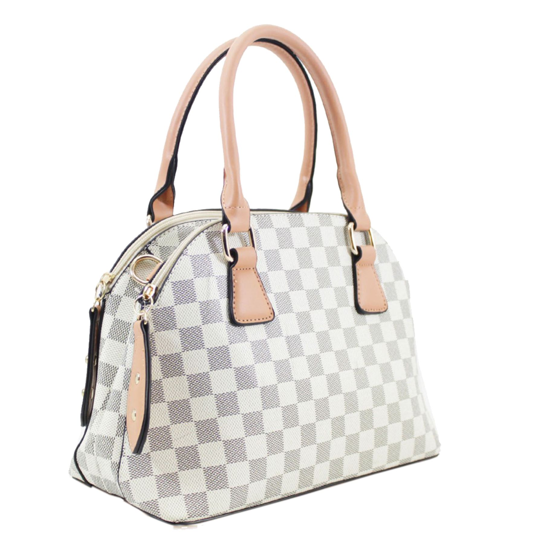 New Women's Double Compartment Patterned Adjustable Tote Casual Handbag