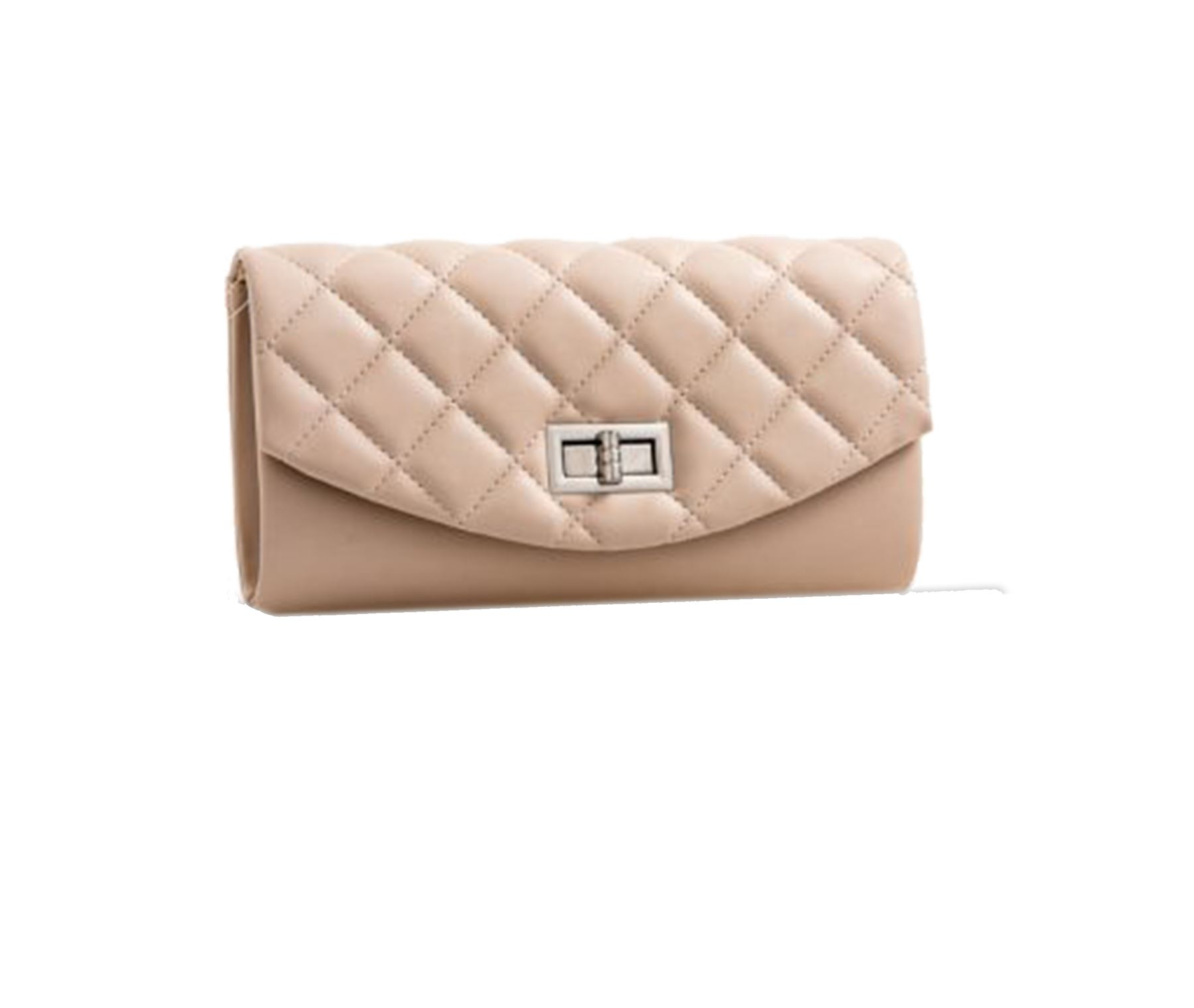 New Ladies Faux Leather Quilted Look Padded 6 Colours Evening Clutch Bag