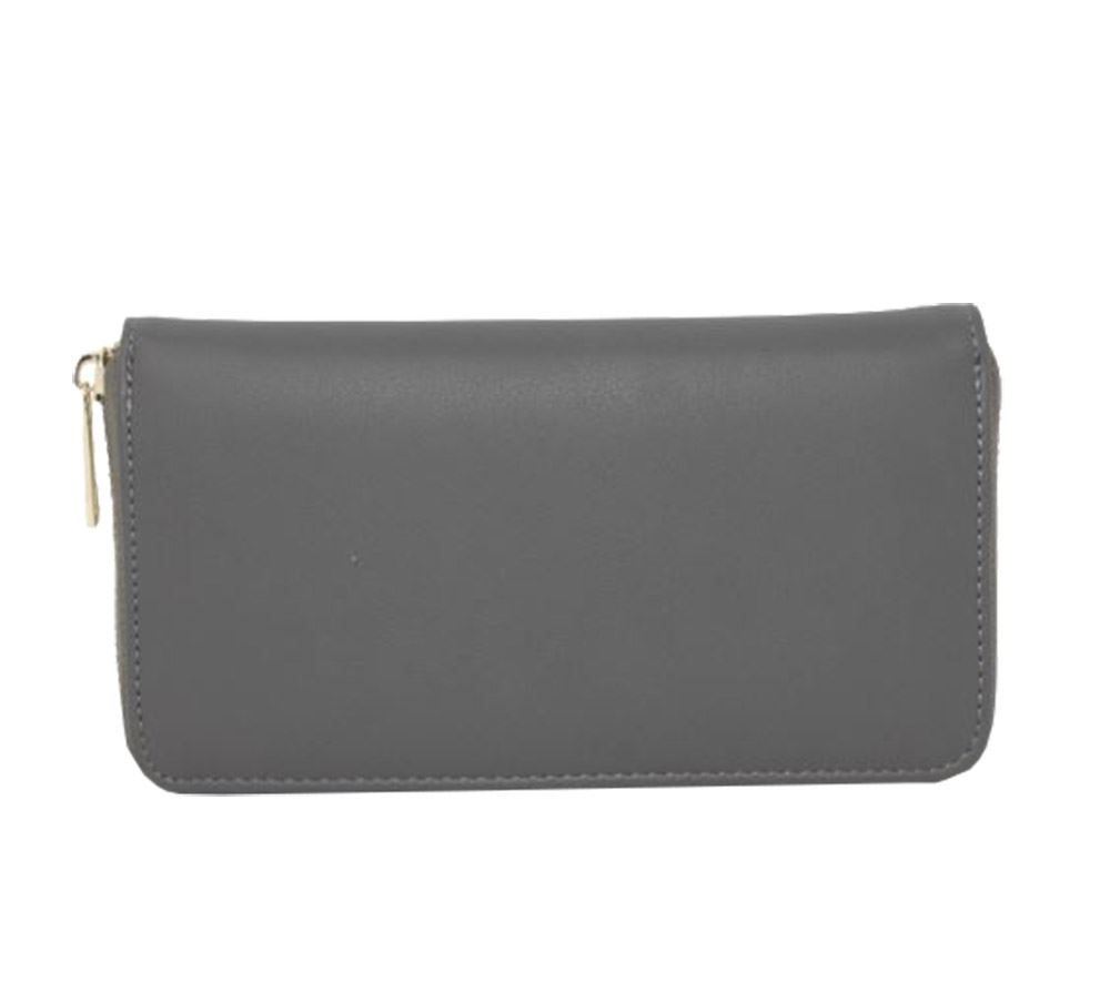 New Hollow Out Pattern Faux Leather Ladies Zip Around Purse Wallet