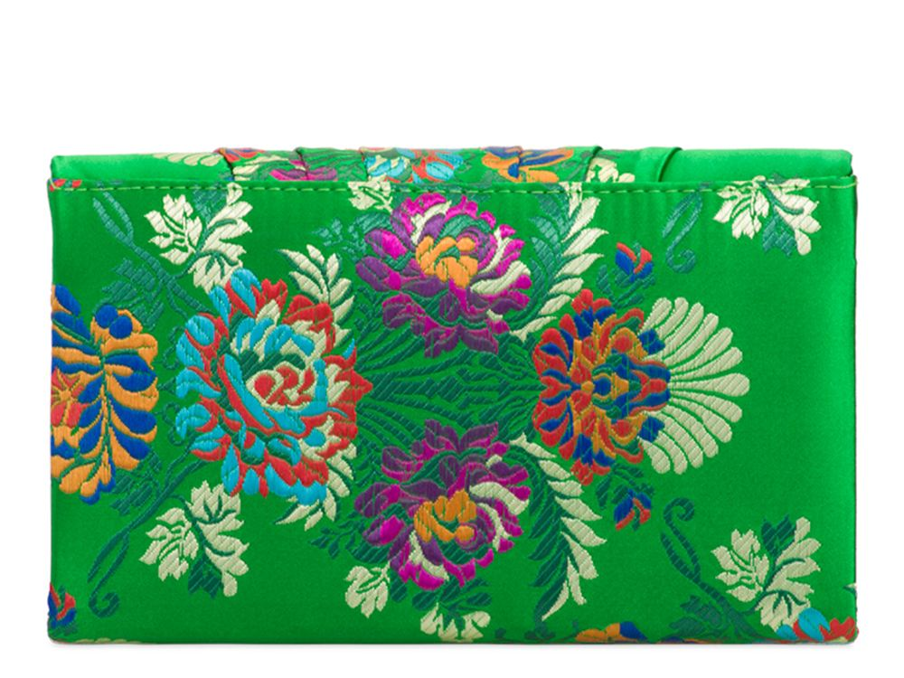 New Floral Embroidery Satin Envelope Women's Evening Prom Clutch Bag Handbag