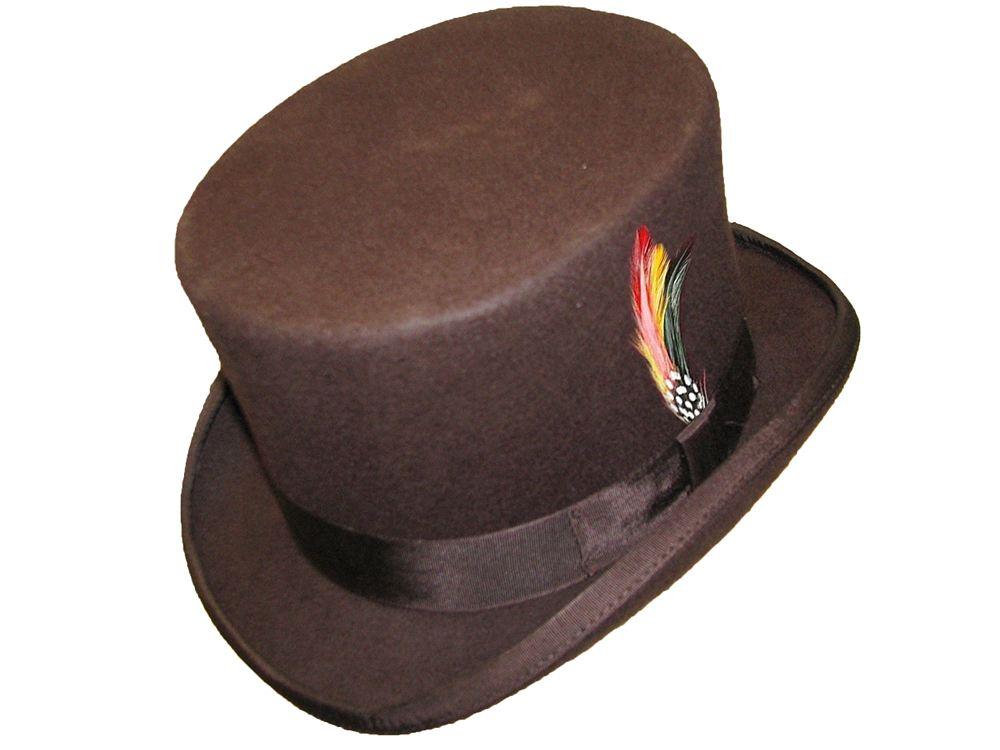 100/% Wool Felt Top Hat High Quality Hand Made Wedding Event Fancy Dress S-XXL